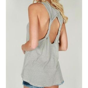 Tops - Twisted Striped Tank